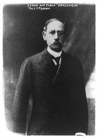 5 - Pablo Arosemena Alba (5 de octubre de 1910 - 1 de octubre de 1912)