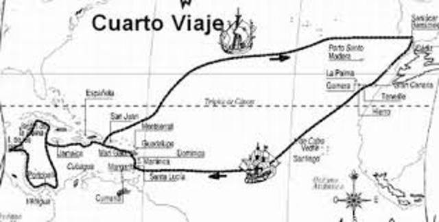 La conquista de los espa oles timeline timetoast timelines for Cuarto viaje de cristobal colon