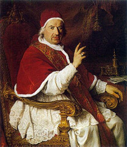 El papa Benedicto XIV autoriza la publicación de la teoria heliocentrica