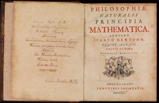 Isaac Newton publica un libro sobre la teoría de la gravitación universal