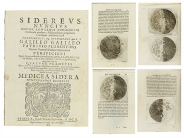 Galileo publica un libro con sus primeras observaciones del telescopio.