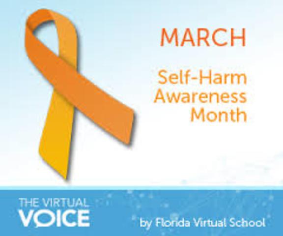 Self Harm Awareness: Self-harm History Timeline