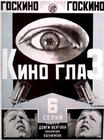 Rodchenko: Kino-glaz (Cine-eye), maquette for a poster for a film by Dziga Vertov, 1924
