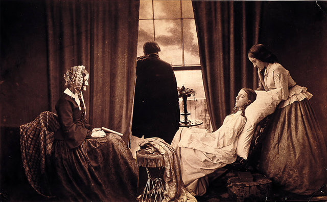 """Fading Away"", by Henry Peach Robinson, 1858"