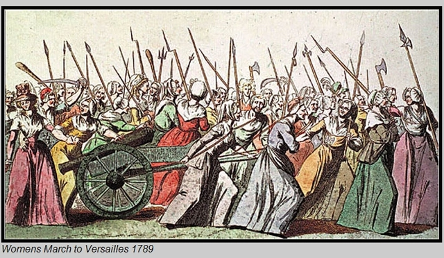 Women lead delegation to King in Versaille demanding bread