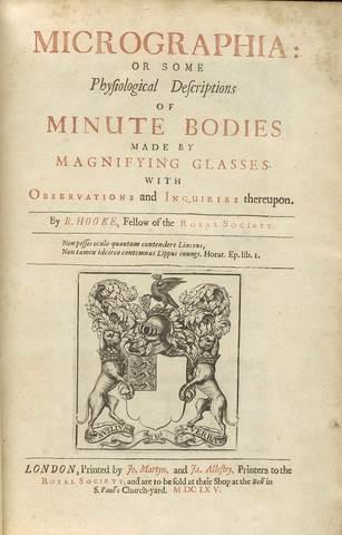 Publica el libro Micrographia