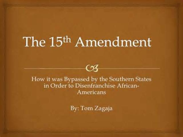 15th amendment date in Melbourne