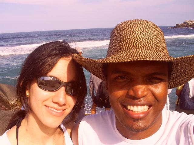 Auto fotografia en la playa el Cabo, santa Marta