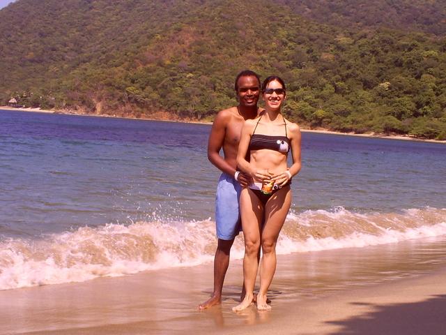 En la hermosa Playa Cinto
