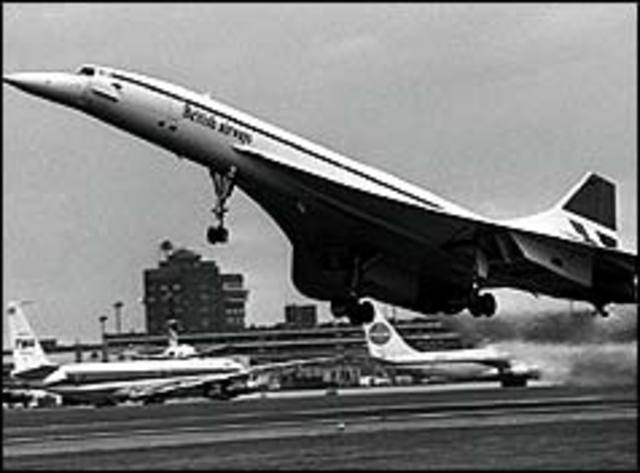 Commercial flight concorde