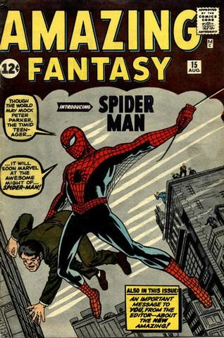 Spider Man appears in Amazing Fantasy #15