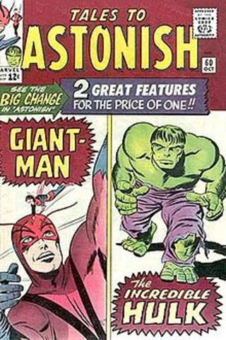 Hulk reappears in Tales to Astonish #60