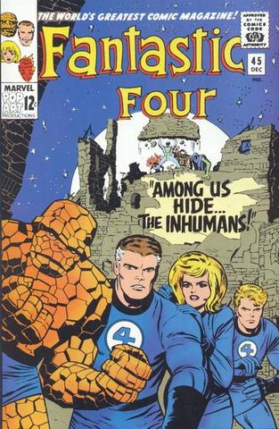The Inhumans appear in Fantastic Four #45