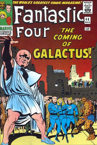 The Silver Surfer appears in Fantastic Four #48