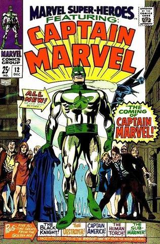 Captain Marvel appears Marvel Super-Heroes #12