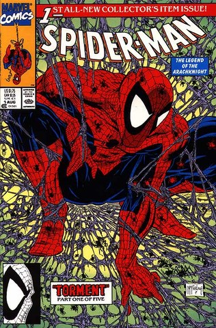 Spider Man #1 released; cover art by Todd McFarlane