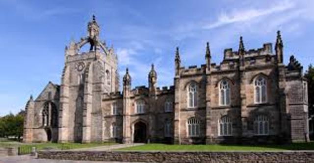 Обьединение Королевского Колледжа и Колледжа Маришаль в Королевский Университет Абердина согласно указа Карла I