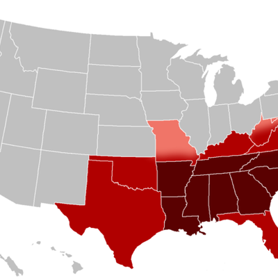 Southern Events 1800-1861 timeline
