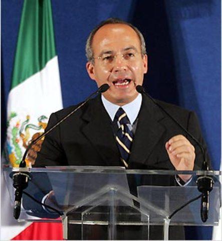 Calderon takes over Mexico