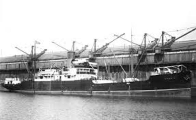 First Merchant Ship sunk by Germans
