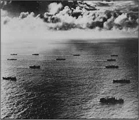First convoy sails