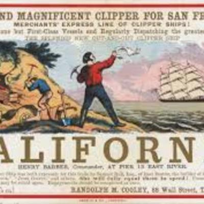"California in 1849 (""California Gold Rush."") timeline"