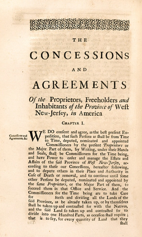 The New Jersey Agreement