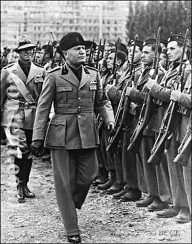 Mussolini joins the army