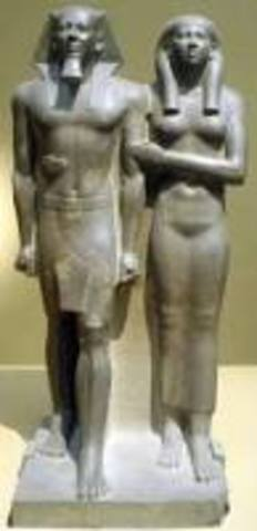 King Menkaura and queen