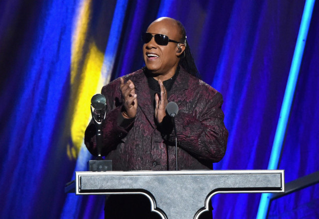 Stevie Wonder was inducted into Rock and Roll Hall of Fame.