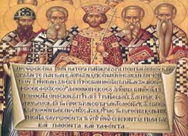 beginning of the church  pentecost to charlemagne timeline