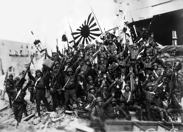 Image result for photo of japanese invasion of china 1937