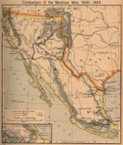 Guerra entre EUA y Mexico por Texas
