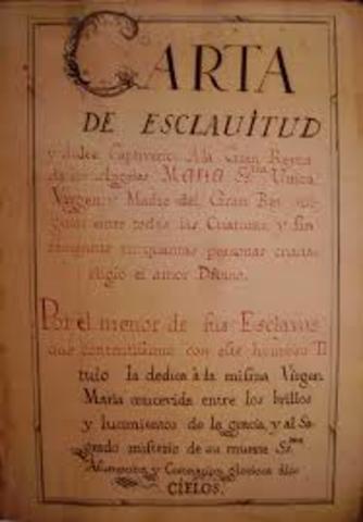 Carte de Esclavitud
