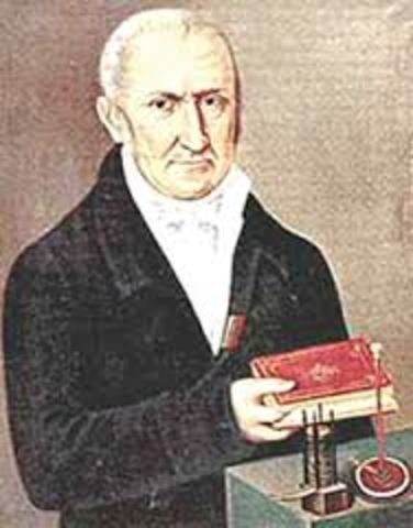 Count Alessandro Volta invents the battery