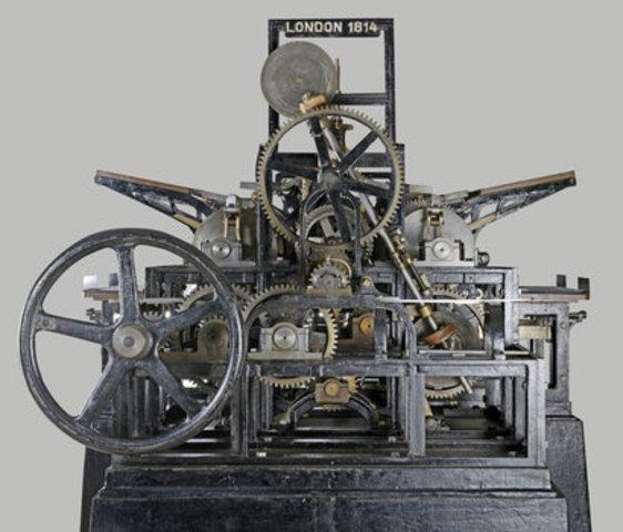Friedrich Koenig invents improved printing press