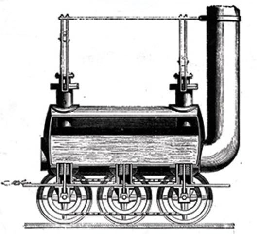George Stephenson designs first steam locomotive