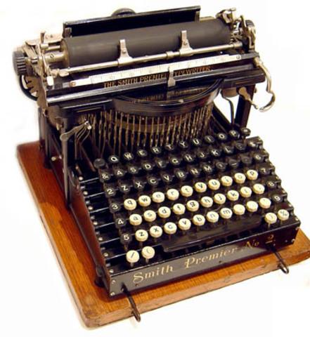 Primera patente de la maquina de escribir