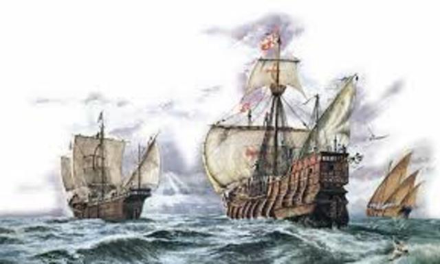 Cristóbal Colon, empieza su primer viaje