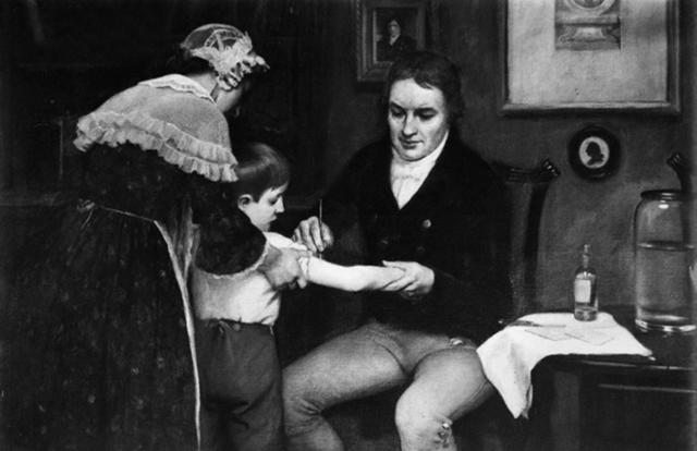 Vacunación contra la viruela. Edward Jenner.