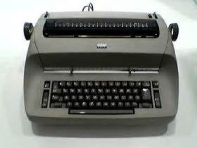 Máquina de escribir que no usa bola de escribir