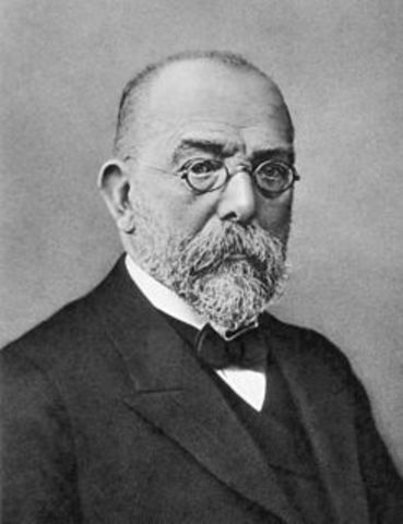 Considerado el fundador de la bacteriología.Robert Koch