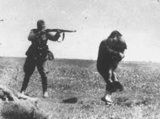 Einsatzgruppen (mobile killing units) shoot nearly 3,000 Jews at the Seventh Fort, one of the 19th-century fortifications surrounding Kovno.