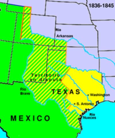 independencia de Texas, Nuevo México y California,