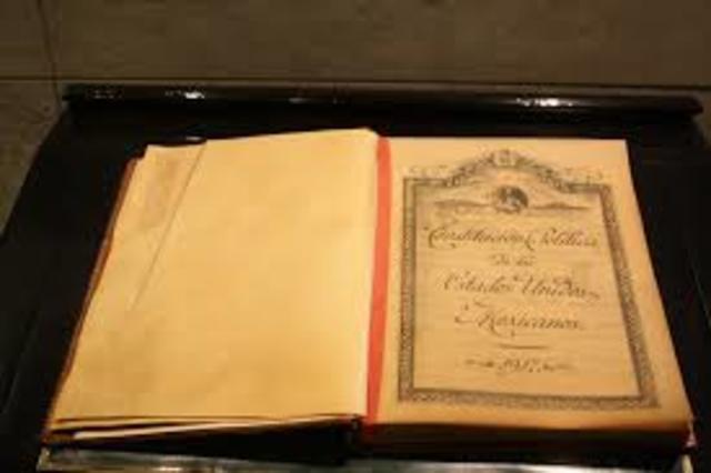 promulgacion de la constitucion federal de los estados unidos mexicanos