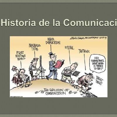 Evolución Histórica de la comunicación timeline