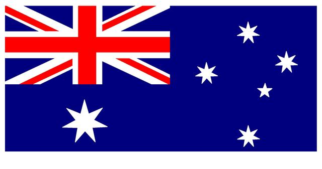 First time the Australian Flag was flown