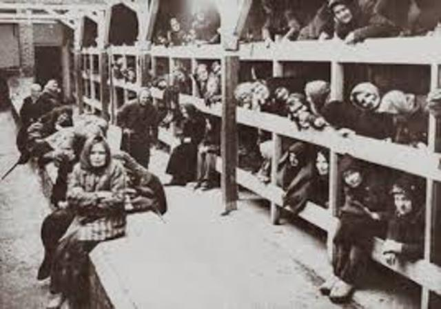Death march of nearly 60,000 prisoners from the Auschwitz camp system in southern Poland.