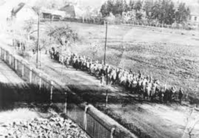 Death March of almost 50,000 prisoners from the Stutthof camp system in northern Poland
