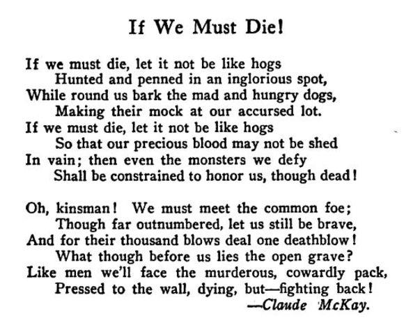 """""""If We Must Die"""""""